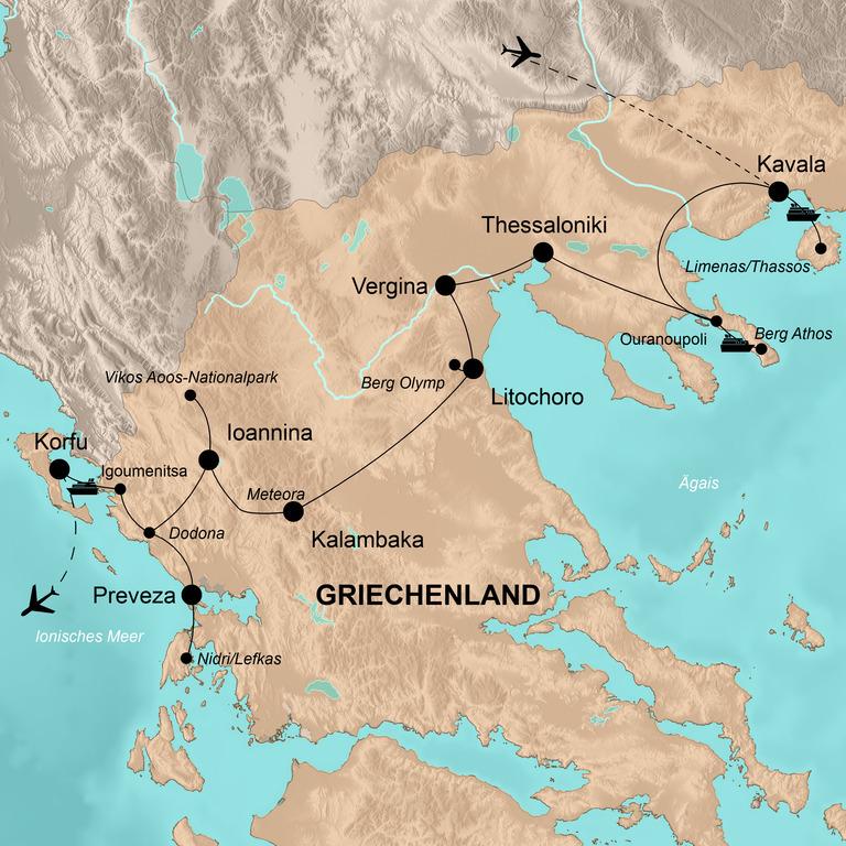 Griechenland: der Norden – Spuren der Antike und Inselflair