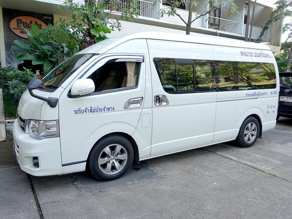 Einer unserer Minivans in Thailand