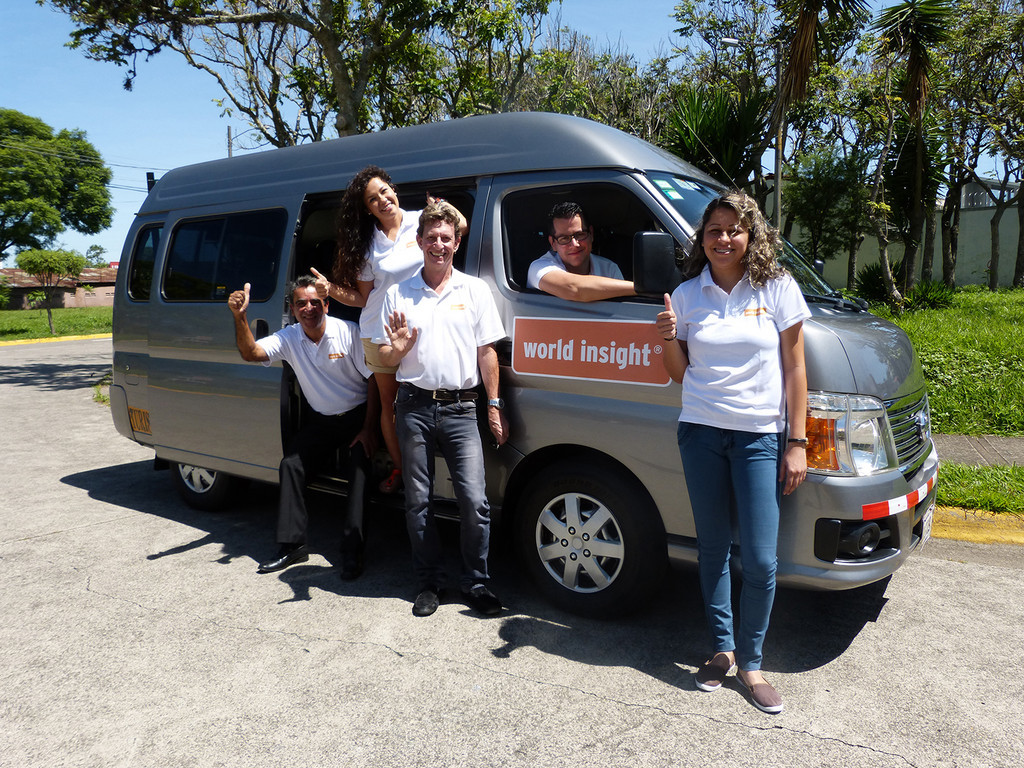 Einer unserer Micro Busse in Mittelamerika