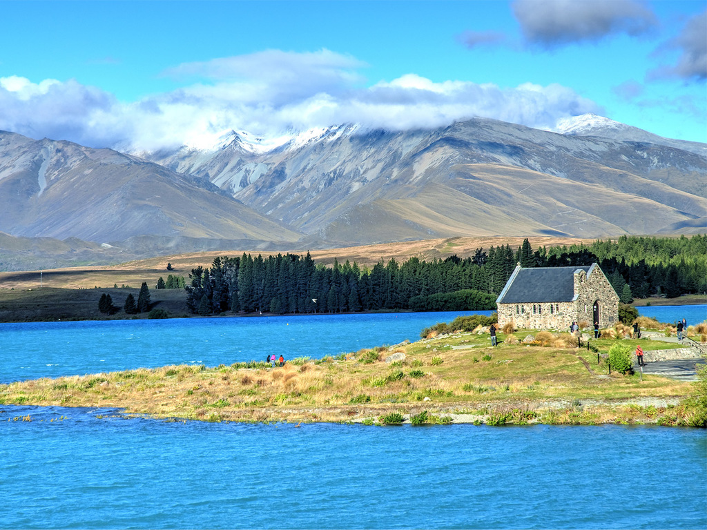 Mount Cook-Nationalpark – Christchurch: Spaziergang am Pukaki- und Tekapo-See, Stadtwanderung