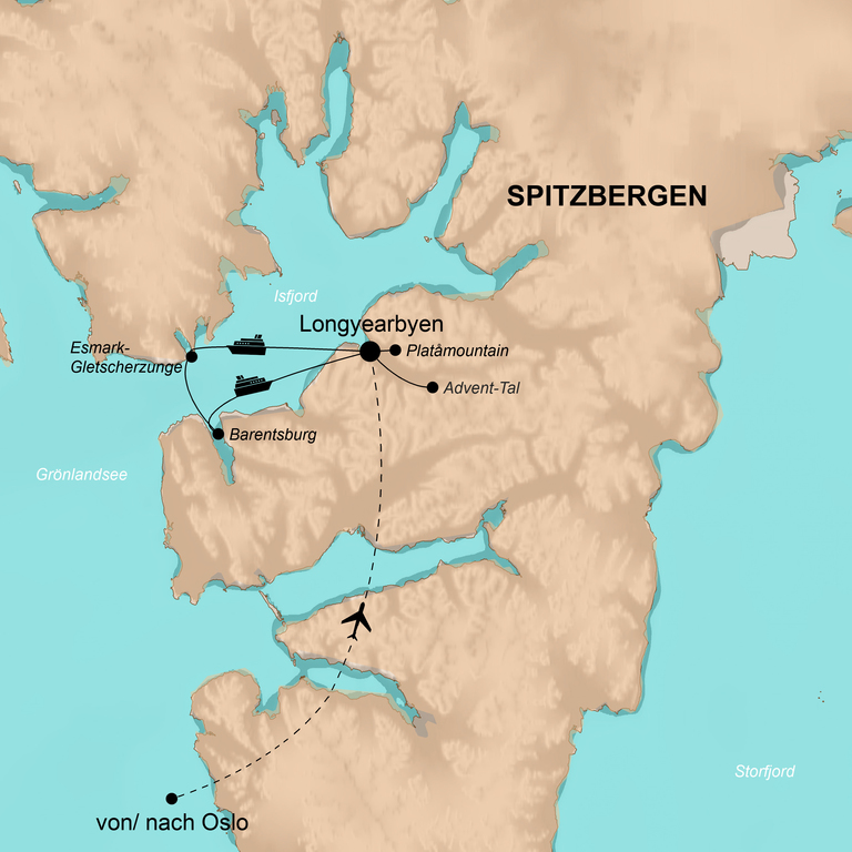 Norwegen: Spitzbergen und Oslo – Auf halber Strecke zum Nordpol