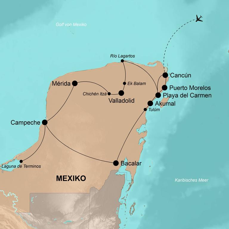 Mexiko – Auf den Spuren der Mayas