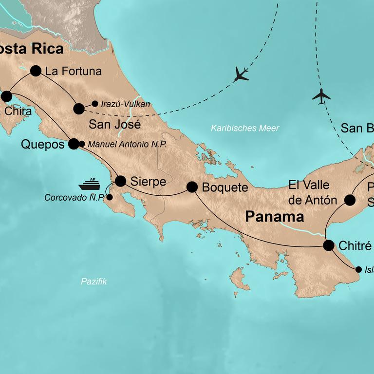 Costa Rica und Panama – Abenteuer im Süden Zentralamerikas