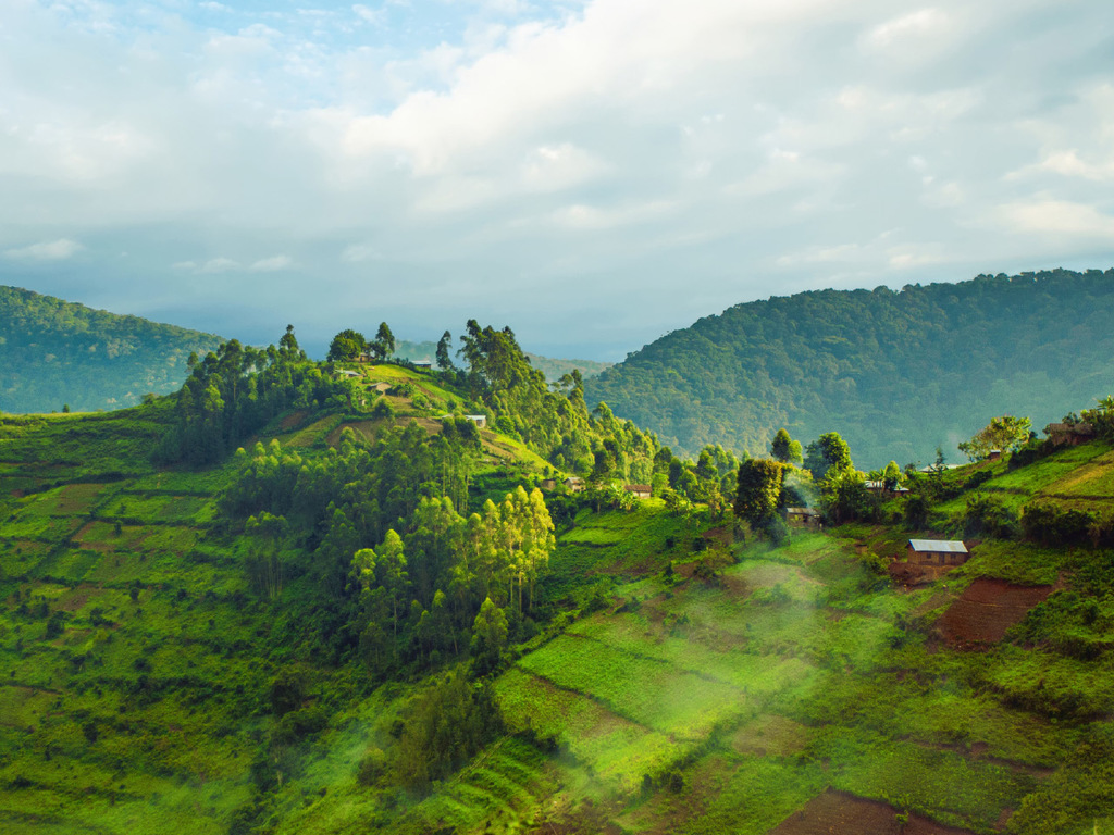Bunyonyi-See – Ruhengeri : Grenzüberquerung nach Ruanda, nachmittags Freizeit