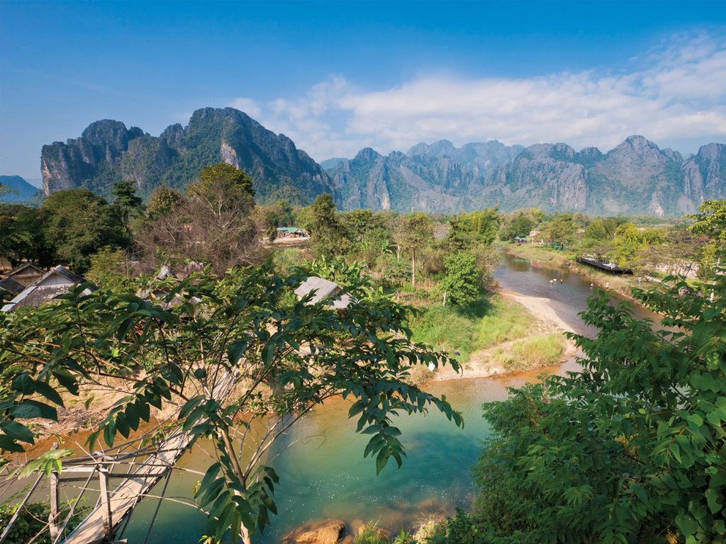 Vang Vieng: Spaziergang durch malerische Landschaften