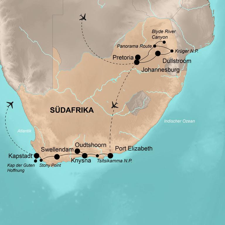 Südafrika  – Höhepunkte der Regenbogennation