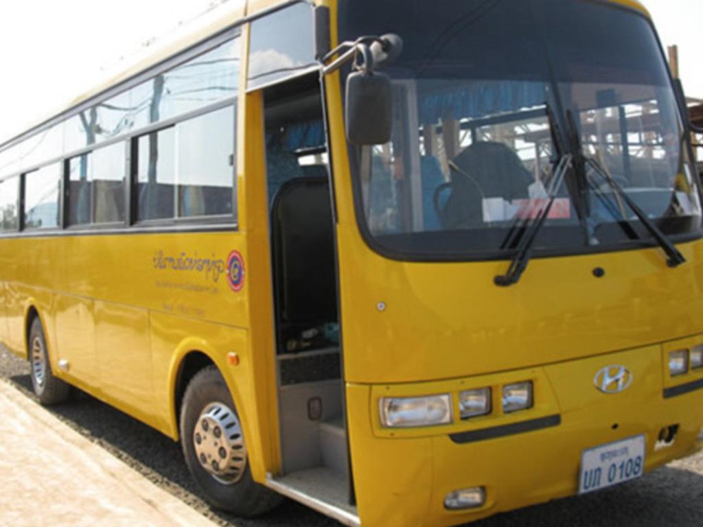 Einer unserer Reisebusse in Vietnam.