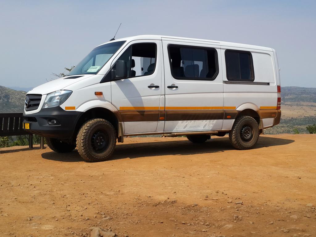 Eines unserer Fahrzeuge im südlichen Afrika