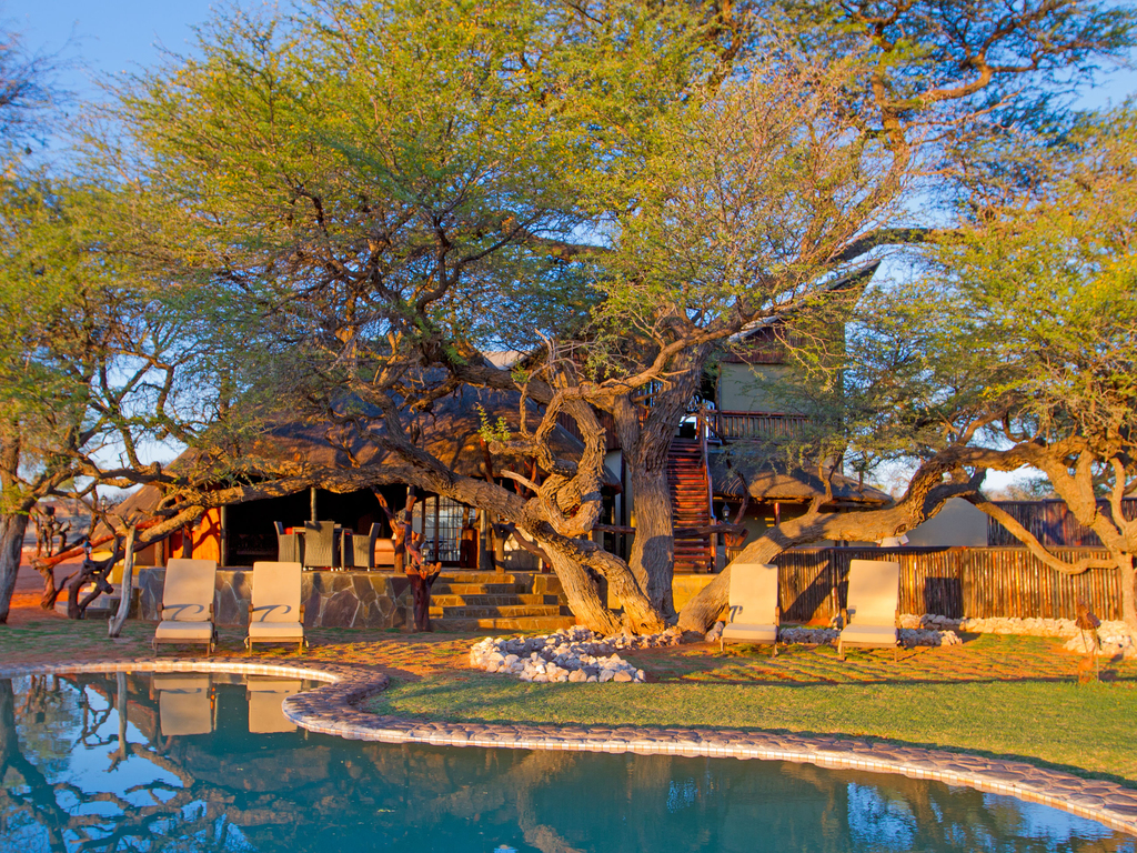 Camelthorn Kalahari Lodge *** in der Kalahari