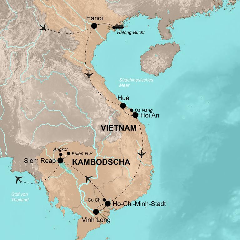 Vietnam und Kambodscha – Das große Indochina-Abenteuer