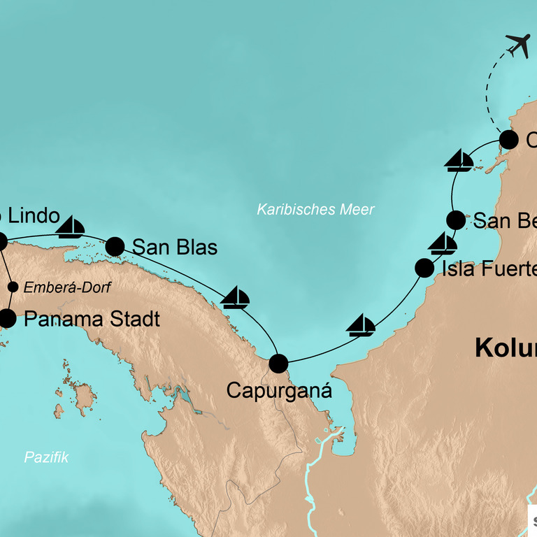 Panama und Kolumbien – Segelabenteuer in der Karibik