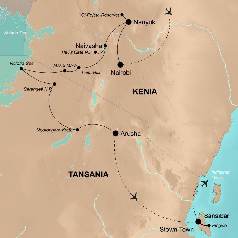Kenia und Tansania mit Sansibar – Abenteuer im Land der Masai