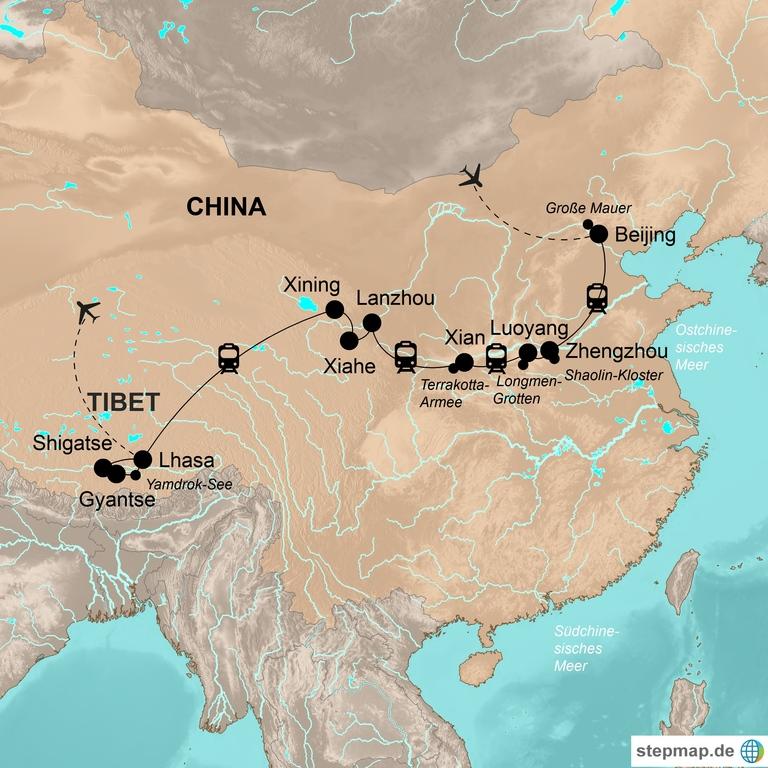 China und Tibet mit Lhasabahn – Mit der Lhasabahn auf das Dach der Welt