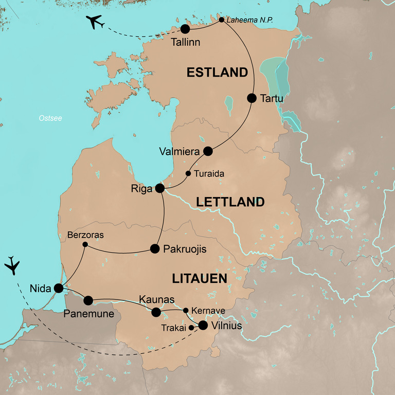 Litauen, Lettland und Estland – Das Baltikum mit Genuss