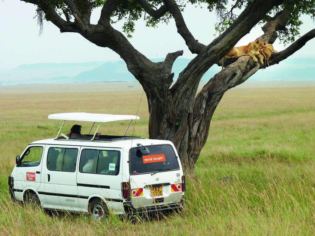 Einer unserer Kleinbusse in Kenia