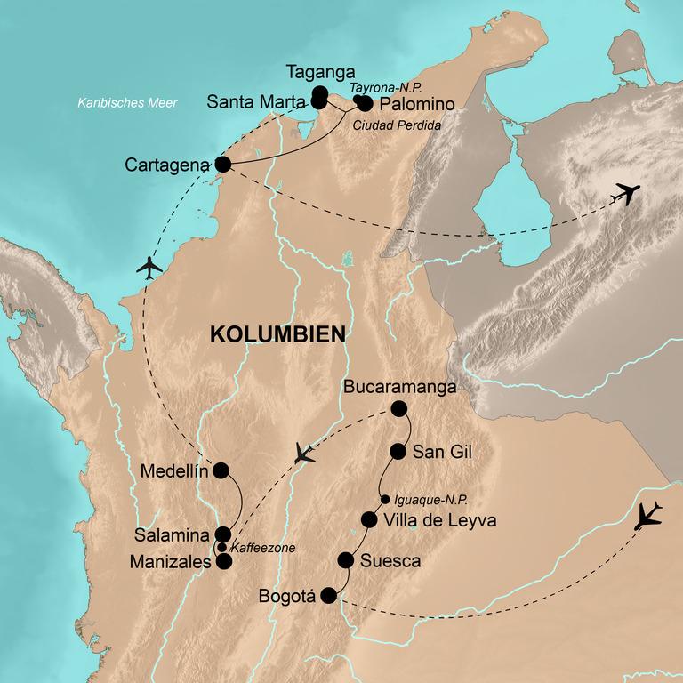 Kolumbien – 21 Tage Abenteuer