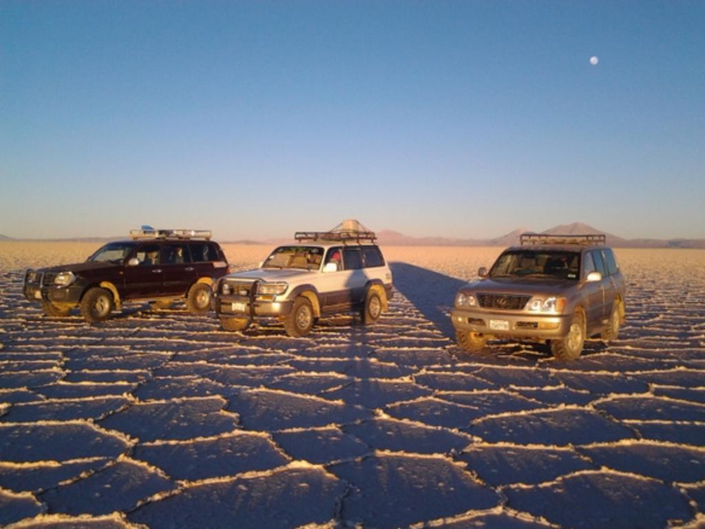 Drei unserer Fahrzeuge in Bolivien