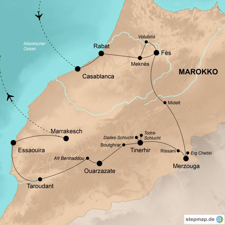 Marokko – Wo die Sonne untergeht