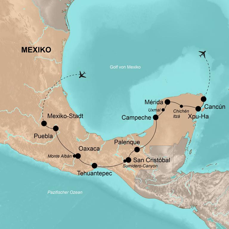 Mexiko – Die klassische Mexiko-Route