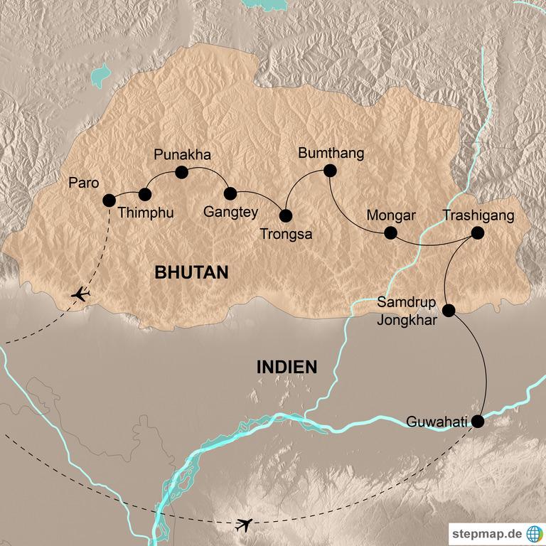 Bhutan – Die umfassende Reise